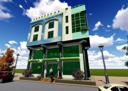 فيلا سكنية و محلات تجارية - القبة